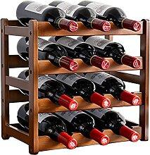 KINGEE Casier À Vin En Bois Pour 12 Bouteilles De