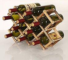 KINGEE Casier À Vin Pour 10 Bouteilles, Casier À