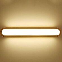 Kioiien Lampe murale en bois massif LED miroir