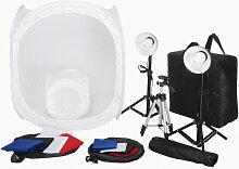 Kit 2 Mini studio photo 2 lampes 45W 2 trépieds 8