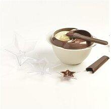 Kit à tempérer le chocolat et 3 moules étoile