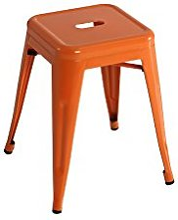 Kit Closet 5020519002 -Tabouret Bas, métal, Orange