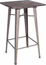 Kit Closet - Table de tabouret carrée en métal