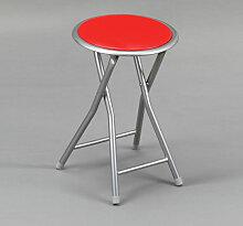 Kit Closet - Tabouret pliant en métal rouge