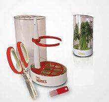 Kit conservation herbes fraîcheur + ciseaux