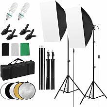 Kit d'eclairage de photographie de studio