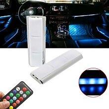 Kit d'éclairage LED multicolore pour voiture,