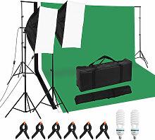 Kit d'eclairage professionnel pour studio de