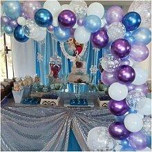 Kit de ballons princesse flocon de neige,