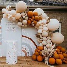 Kit de ballons rétro en arc Orange poussiéreux,