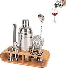 Kit De Barman 12 Pièces, Shaker Cocktail Avec