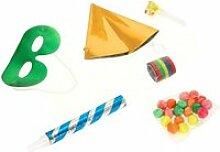 Kit de fête cotillons - 6 accessoires  - jaune