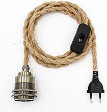 Kit de lampe à suspension en corde de chanvre