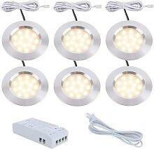 Kit de lampes sous-meuble en aluminium LED, pour