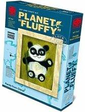 Kit de loisirs créatifs - image de laine - panda