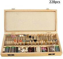Kit de Mini perceuse électrique 228 pièces, Kit