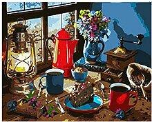Kit De Peinture Adulte Avec Brosses Et Peintures