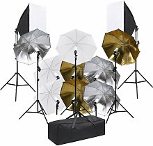 Kit de studio de photo avec éclairage et bo?tes