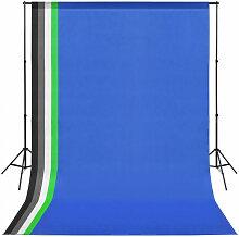 Kit de studio photo avec 5 toiles de fond
