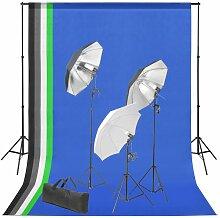 Kit de studio photo avec toile de fond et jeu