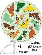 Kit Easy Biscuits Dinosaures avec pâte à sucre