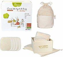 Kit Eco chou - lingettes bébé lavables -