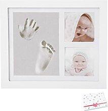 Kit empreintes mains et pieds bébé avec cadre