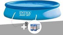 Kit piscine autoportée easy set 3,96 x 0,84 m + 6