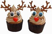 Kit pour confectionner 6 rennes de Noël incluant