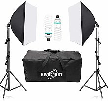 Kit Softbox Eclairage Photo Studio avec 2x150W