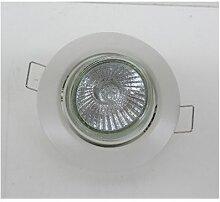 Kit spot encastré halogène blanc orientable avec