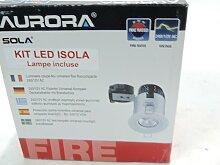 Kit spot LED encastré Ø 89mm fixe blanc avec