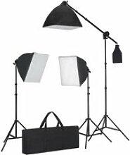 Kit studio photo 3 softbox avec trépieds