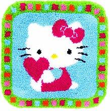 Kit tapis modelé au point noué Hello Kitty &