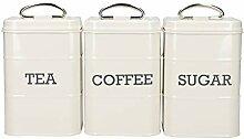KitchenCraft LNTCSSETCRE Boîtes pour thé, café