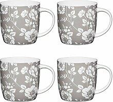 1//3 et 1 tasse Kitchen Craft acier inoxydable tasses à mesurer Lot de 4-1//4 1//2