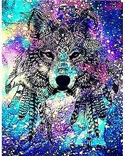 Kits de peinture de diamant 5D pour adultes, loup