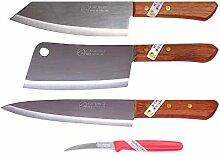 Kiwi #173#830#288 Lot de 3 couteaux de chef thaï