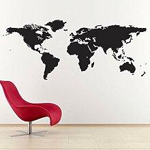 Kjlfow Carte du Monde géographie Art Stickers