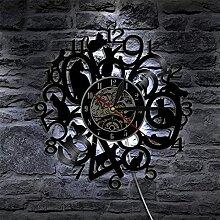 KJSWEI Horloge Murale de Vinyle Horloge de Chat