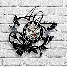 kkkjjj Horloge Murale en Vinyle-Horloge Murale en