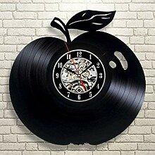 kkkjjj Horloge Murale en Vinyle-Horloge Murale