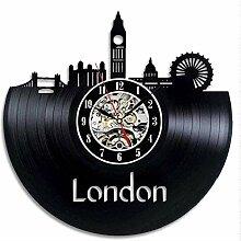 kkkjjj Horloge Murale en Vinyle