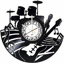kkkjjj Instruments de Musique Horloge Murale en