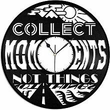 kkkjjj Recueillir des Moments Horloge Murale en