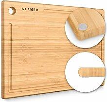KLAMER Planche à découper en bambou