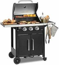 Klarstein Tomahawk 3.0 T barbecue à gaz 3 x