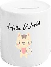Kleckerliese Tirelire Hello World Chat Enfant