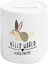 Kleckerliese Tirelire Hello World Lapin