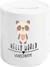 Kleckerliese Tirelire Hello World - Motif panda -